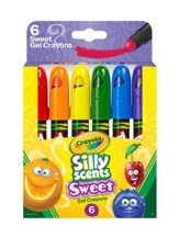 Silly Scents, Gel Crayons, 6 pieces