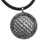 Golf, Phillipians 4:13 Pendant,  Pewter, Black Cord