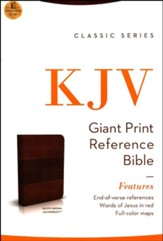 KJV Classic Giant-Print Personal-Size End-of-Verse Reference Bible--imitation leather, rustic brown