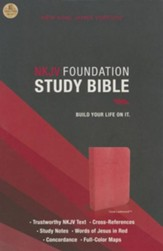 NKJV Foundation Study Bible--imitation leather, coral sheen - Imperfectly Imprinted Bibles