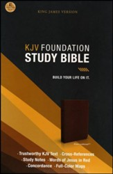 KJV Foundation Study Bible--imitation leather, earth brown