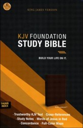 KJV Foundation Study Bible--imitation leather, earth brown (indexed) - Slightly Imperfect