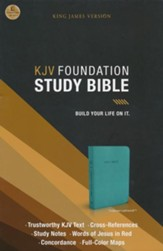 KJV Foundation Study Bible--imitation leather, rich turquoise