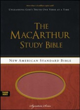 NASB MacArthur Study Bible, Soft Leather-look  - Slightly Imperfect