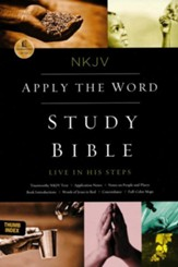 NKJV Apply the Word Study Bible--soft leather-look, black (indexed)  - Imperfectly Imprinted Bibles