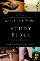 NKJV Apply the Word Study Bible--soft leather-look, deep rose/black (indexed)