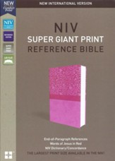 NIV, Super Giant Print Reference  Bible, Imitation Leather, Pink