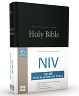 NIV Value Pew and Worship  Bible--hardcover, black