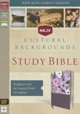 NKJV, Cultural Backgrounds Study Bible, Imitation Leather, Purple, Thumb Indexed