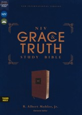 NIV Grace and Truth Study Bible, Comfort Print--soft leather-look, brown (indexed)