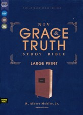 NIV Grace and Truth Large-Print  Study Bible, Comfort Print--soft leather-look, brown (indexed)