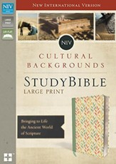 NIV, Cultural Backgrounds Study Bible, Large Print, Imitation Leather, Green, Thumb Indexed