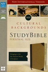 NIV, Cultural Backgrounds Study Bible, Personal Size, Imitation Leather, Tan