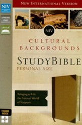 NIV, Cultural Backgrounds Study Bible, Personal Size, Imitation Leather, Tan, Thumb Indexed