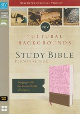 NIV, Cultural Backgrounds Study Bible, Personal Size, Imitation Leather, Pink and Brown, Thumb Indexed - Slightly Imperfect