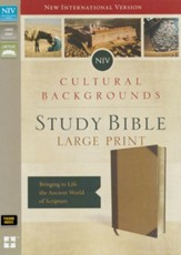 NIV, Cultural Backgrounds Study Bible, Large Print, Imitation Leather, Tan, Thumb Indexed