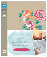 NIV Journal the Word Bible for Teen Girls Gold Floral,