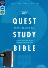 NIV Quest Study Bible, Comfort Print--soft leather-look, black (indexed)