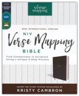 NIV Verse Mapping Bible--cloth over board, gray