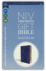 NIV Premium Gift Bible, Youth Edition, Comfort Print, Leathersoft, Blue