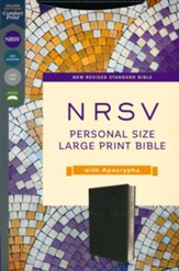 NRSV Large-Print Personal-Size Bible with Apocrypha, Comfort Print--soft leather-look, black