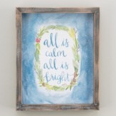 All Is Calm, Watercolor, Framed Canvas