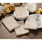 Thankful Grateful Blessed Gather Table Napkins, Set of 4