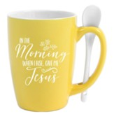 In the Morning When I Rise, Spoon Mug, Yellow