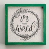 Joy To The World, Small, Framed, Fabric Board