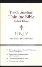 NRSV Go-Anywhere Thinline Bible Catholic Edition Bonded Leather, Black