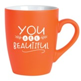 You Are Beautiful Mug, Orange
