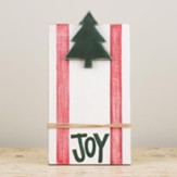 Joy With Christmas Tree, Twine, Frame