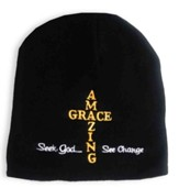 Amazing Grace Beanie Hat, Black