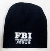 FBI, Firm Believer in Jesus, Beanie Hat, Black