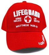 Lifeguard, Mine Walks on Water, Cap, Red