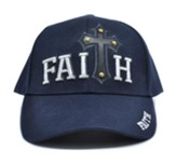 Studded Faith Cross Cap, Blue