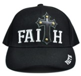 Studded Faith Cross Cap, Black