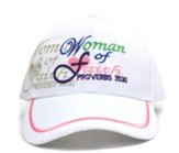 Woman of Faith Cap, White
