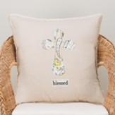 Blessed, Pillow Cover with Cross