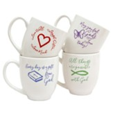 All Things, Live Well, God's Love, Gift From God Mug Set