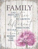 Family-Like Branches On A Tree, Plaque