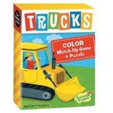 Trucks Match Up Game and Puzzle