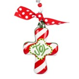 Joy Cross Ornament