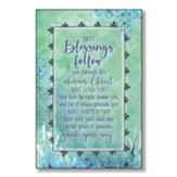 May Blessings Follow You Through Life Wood Plaque