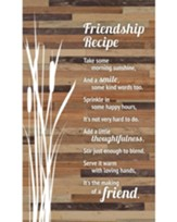 Friendship Recipe Plaque