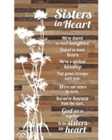 Sisters In Heart Plaque