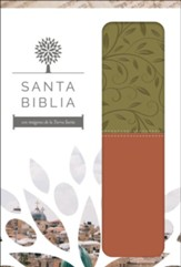 Biblia RVR 1960 Letra Grande, Piel Imit. Verde/Marrón  (RVR 1960 Large Print Bible, Green/Brown LeatherSoft)