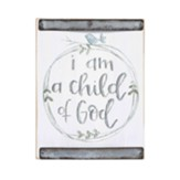 Child of God Block Sign, Blue