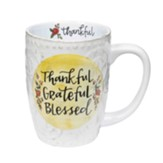 Thankful Grateful Blessed Sculpted Mug