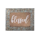 Blessed Embossed Metal Frame Sign